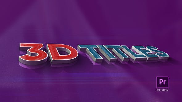 Download 3D Titles » Free After Effects Template